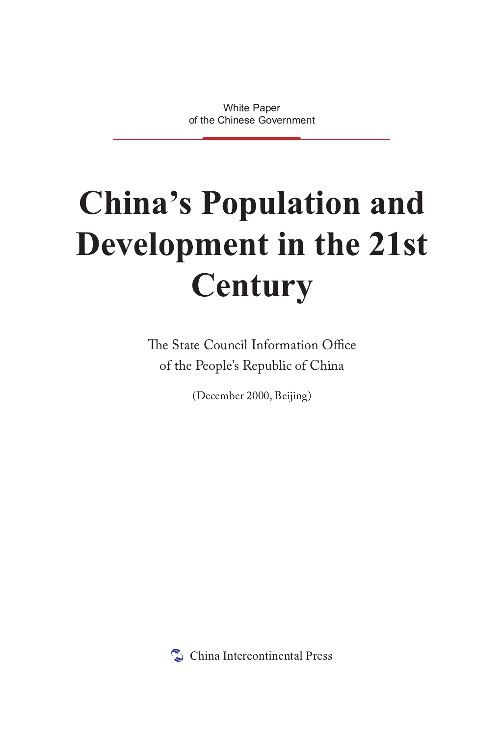 China's Population and Development in the 21st Century
