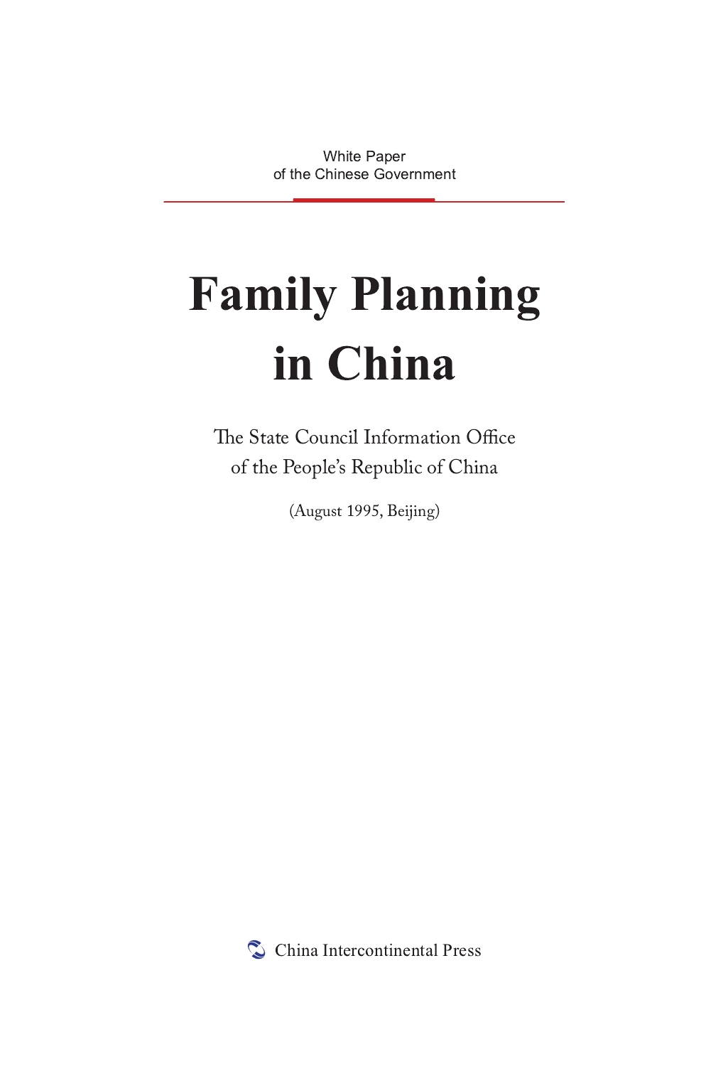 Family Planning in China