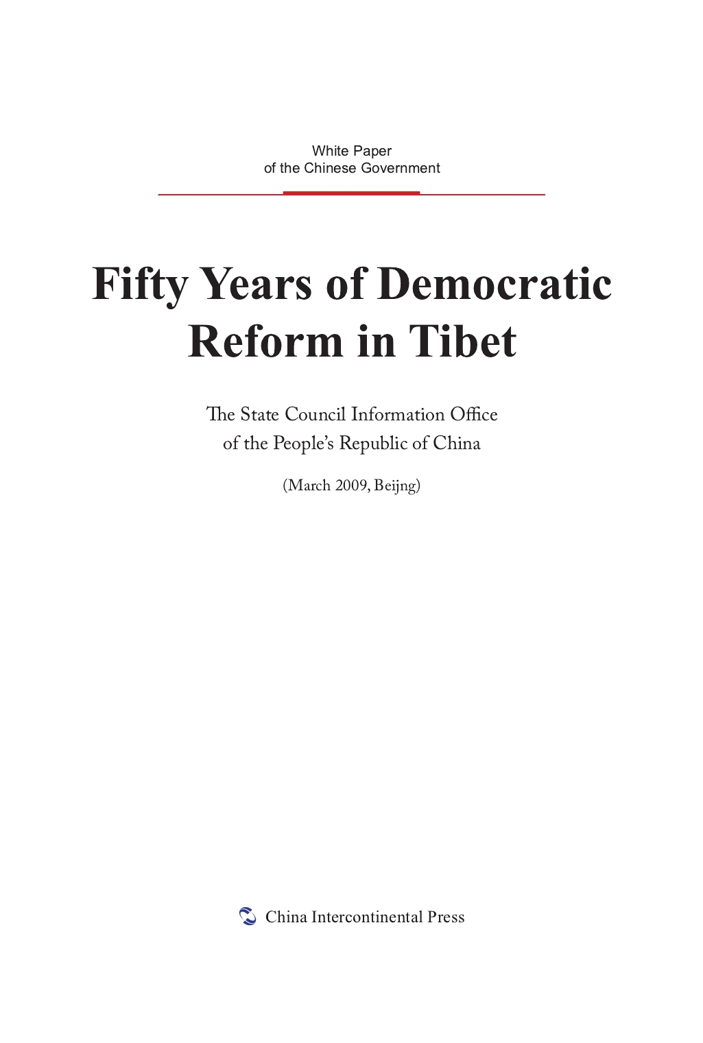 Fifty Years of Democratic Reform in Tibet