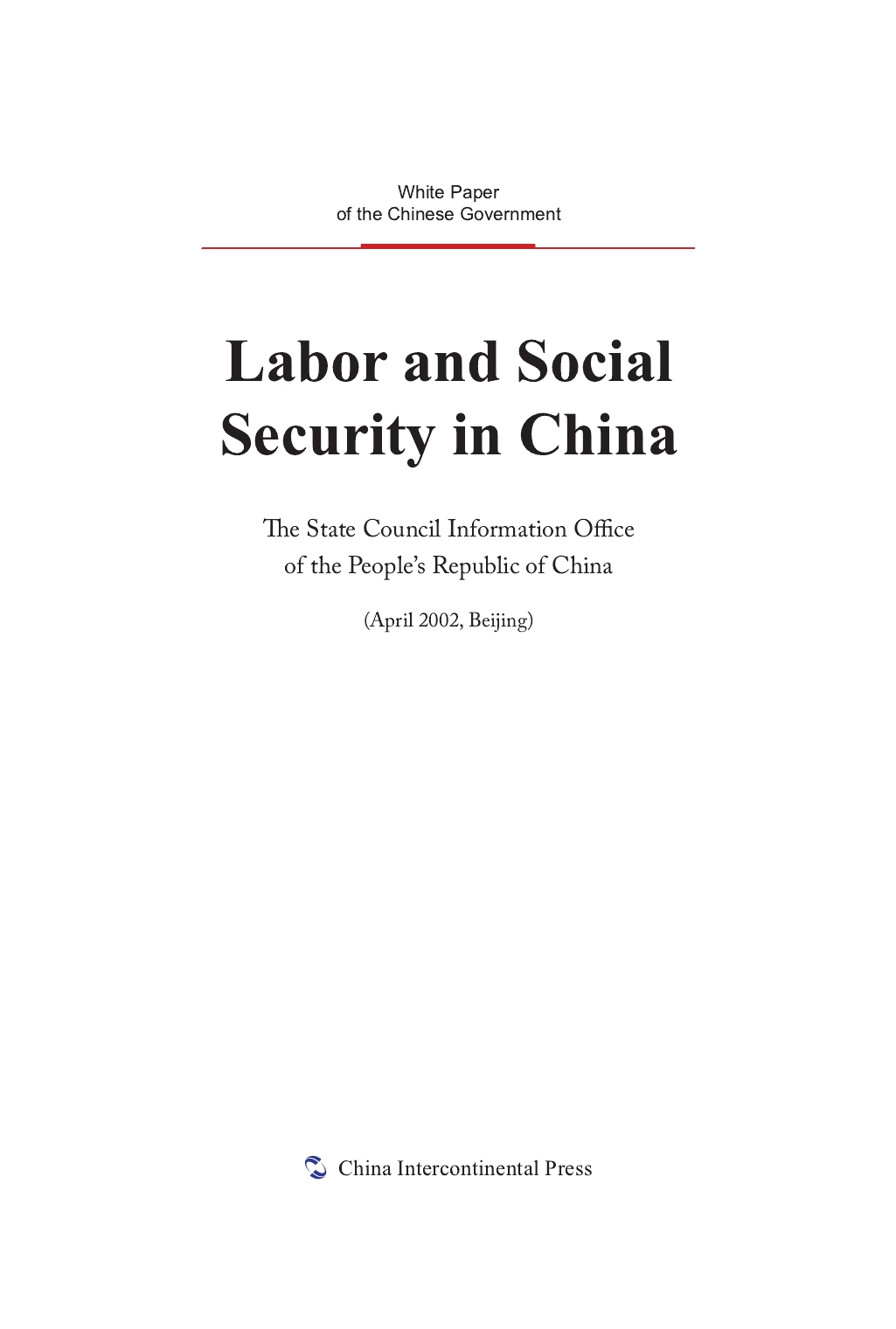 Labor and Social Security in China