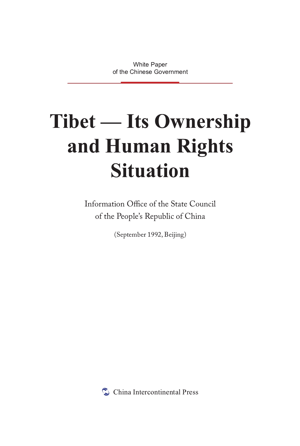 Tibet—Its Ownership and Human Rights Situation
